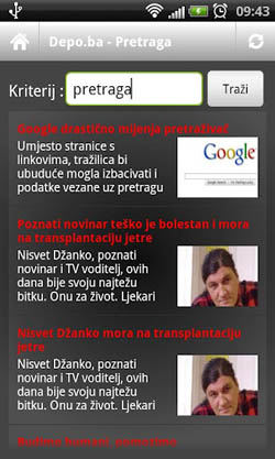 DEPO.ba, android aplikacija, Screen 3